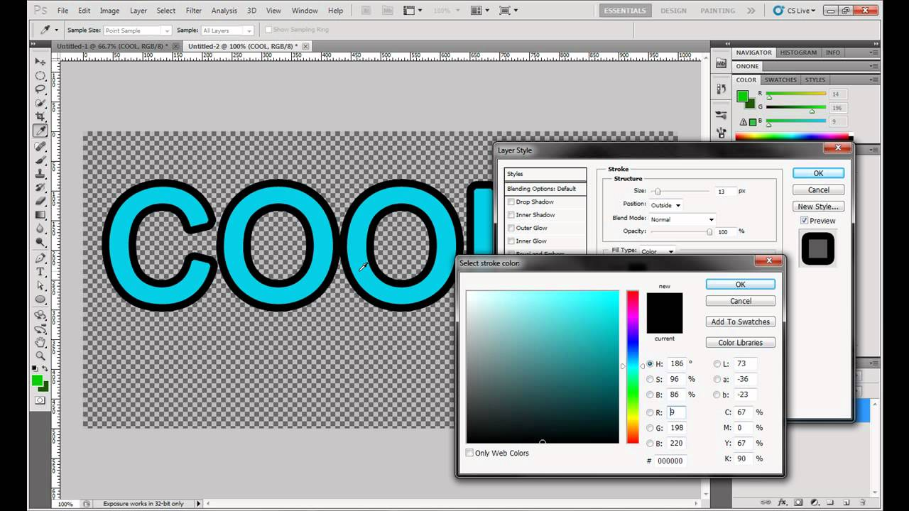 Outline Text In Photoshop