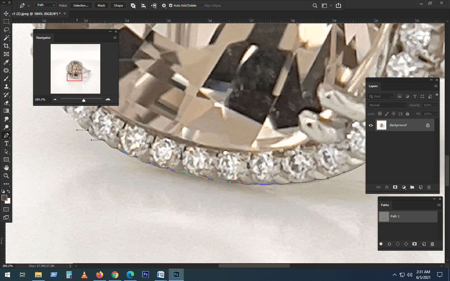 Handmade Clipping Path - Removing the Background